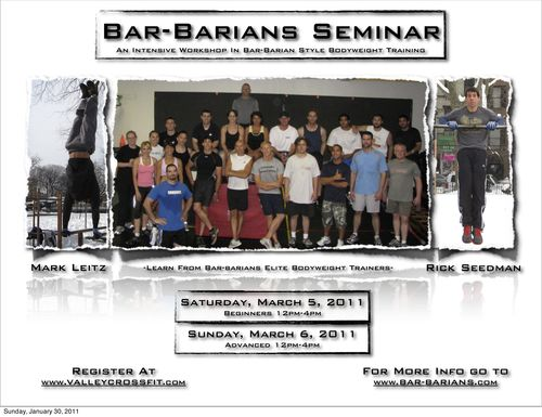 Bar-Barians:Valley CrossFIT Flyer