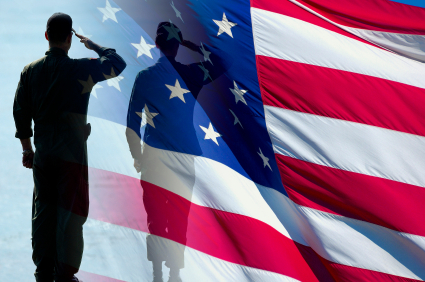 Patriotic-soldiers-salute-american-flag